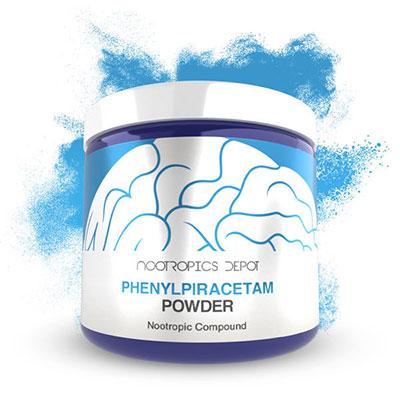 Photo of phenylpiracetam powder